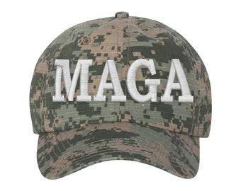 MAGA Hat - Make America Great Again Trump Digital Green Camo 058824df1afe