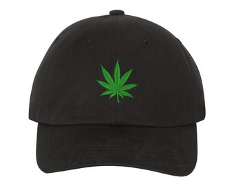 Weed Leaf Embroidered Cap Dad hat- baseball cap - The Chronic Bud Marijuana  Leaf Pot Blunt 420 Weed Hat Cap Adult White Snoop Dogg 61cc3ebef8d0