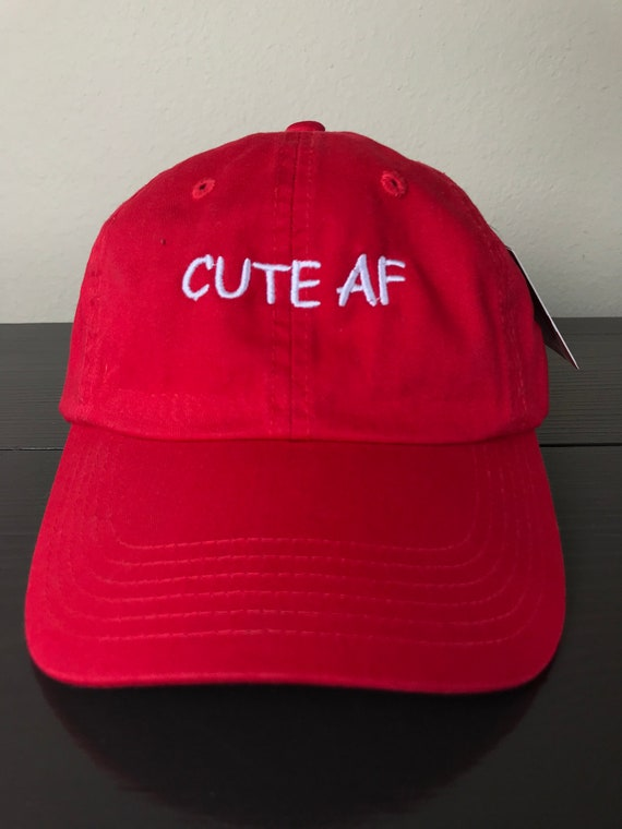 4d0162b932382 top quality cute af dad hat adjustable cotton red puma hat d8550 223f8