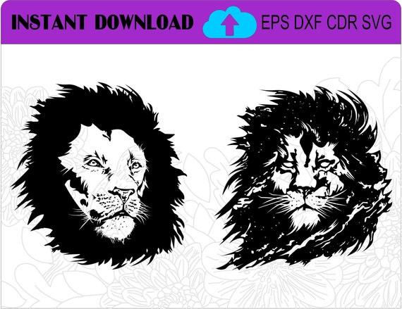 Safari Nursery Lion Art Lion Svg Lion Eps Lion Dxf Lion Cdr Etsy