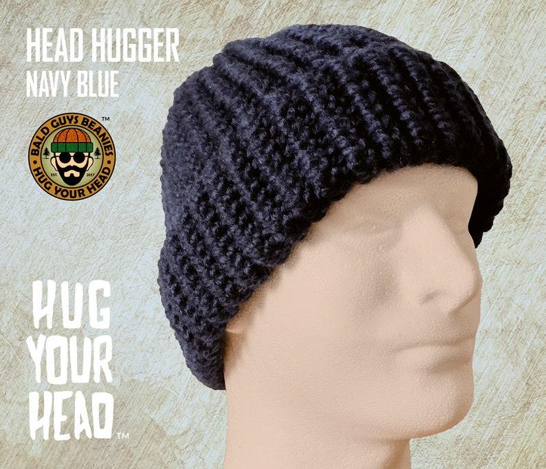 cef54a34 Mens Knit Hat Navy Blue Beanie Blue Knit Beanie Hat Mens | Etsy