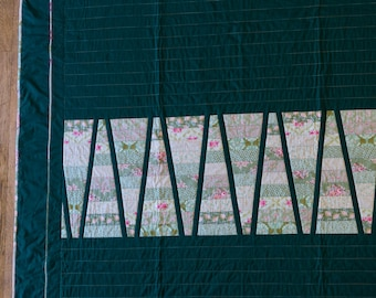 """Handmade patchwork quilt """"Green queen"""". Handmade by seller. Double bed size."""