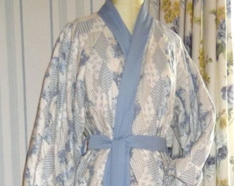 Hand Stitched Patchwork Quilted Dressing Gown SALE Save 25% off listed price