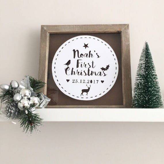 First Christmas Frame First Christmas Baby Baby First | Etsy