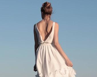 Wedding Top Silk Open Back Bridal Separates Boho Dress Modern Beach