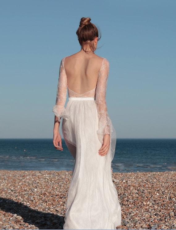 Boho Hochzeitskleid Zweiteilig Hippie Brautkleid Etsy