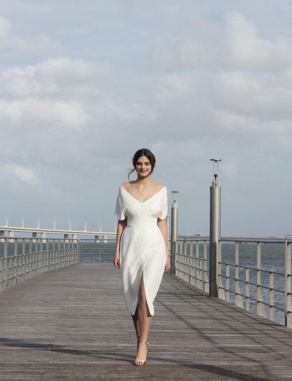 Short wedding dress elegant simple wedding dress rustic