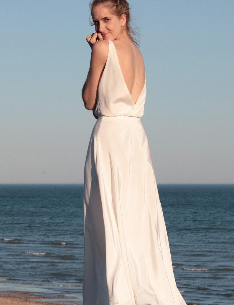 Wedding Skirt Silk Elegant Wedding Beach Wedding Skirt Garden Wedding Dress Wedding Separates Casual Wedding Romantic Senna Skirt