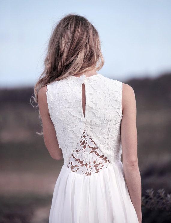 Hochzeitskleid Kurz Spitze Vintage Kleid Standesamt Etsy
