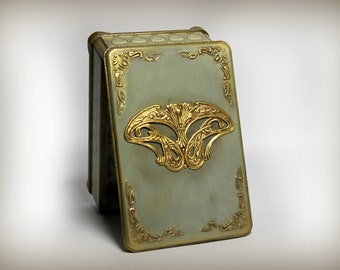 Jewelry Box vintage,art-nouveau box,jewelry storage organizer, trinket box jewelry, casket box jewelry, gift for her, gift for girlfriend