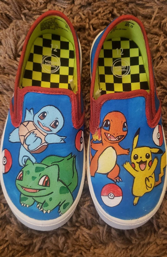 Pikachu Pokemon Hand painted shoes Etsy