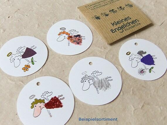 Runde Geschenketiketten Mit Kleinen Bunten Collagierten Engelchen Mini überraschungstüte Vpe 10 Stück Oder 5 Stück