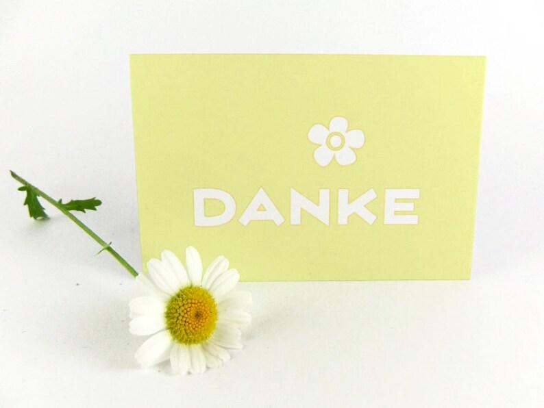 Schlichte Gelbe Mini Dankekarten Visitenkartengröße