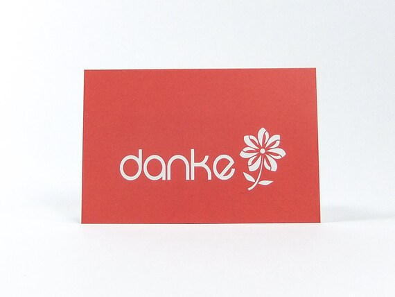 Simple Red Mini Thank You Cards Business Card Size