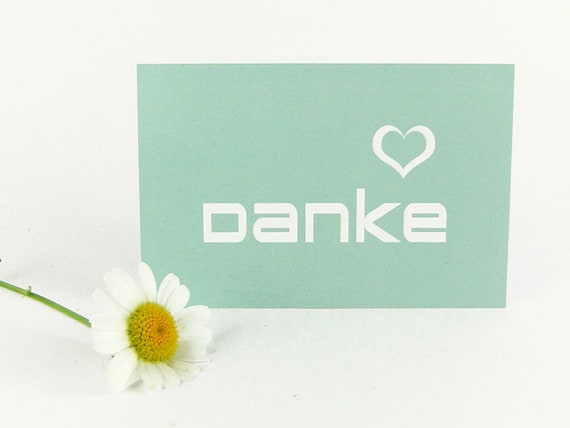 Simple Mintfarbene Mini Thank You Cards Business Card Size