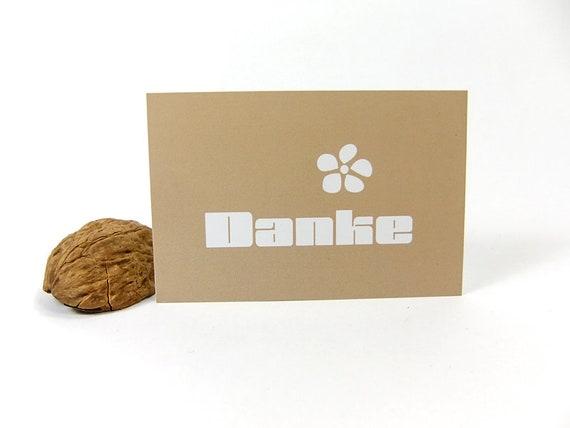 Schlichte Braune Mini Dankekarten Visitenkartengröße