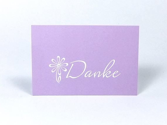 Simple Purple Mini Thank You Cards Business Card Size