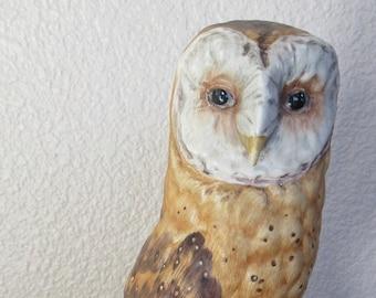 Goebel Vintage Porcelain Barn Owl Figurine West Germany CV 112 - TMK4