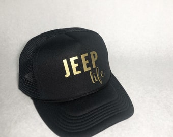 06c4f5879d178 Free Shipping Jeep Life Jeep Girl Trucker Hat