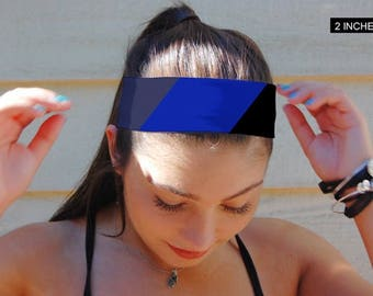 Non Slip Headband, Blue Headband, Yoga Headband, Black Headband, Thin Headband, Wide Headband, Adult Headband, Custom Headband, BOHO Band