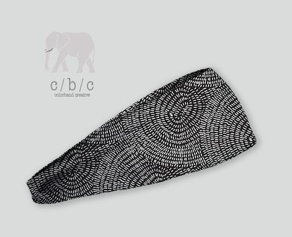 Black Headband Thin or Thick Headband Non Slip Headband  b7b8b2e2759