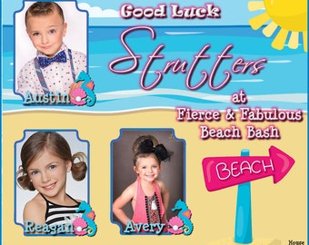 Congratulations Holiday Good Luck Digital Banner Pageant Banner Hobby Banner