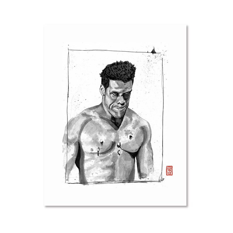 Bushmaster / Marvel Comic / Black and White / Fine Art Print / Giclee /  Japanese Ink / Yokai Illustration