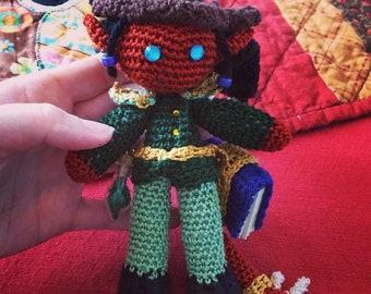 Crocheted Custom D&D Character Doll