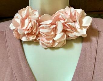 Silk Flower Necklace Etsy