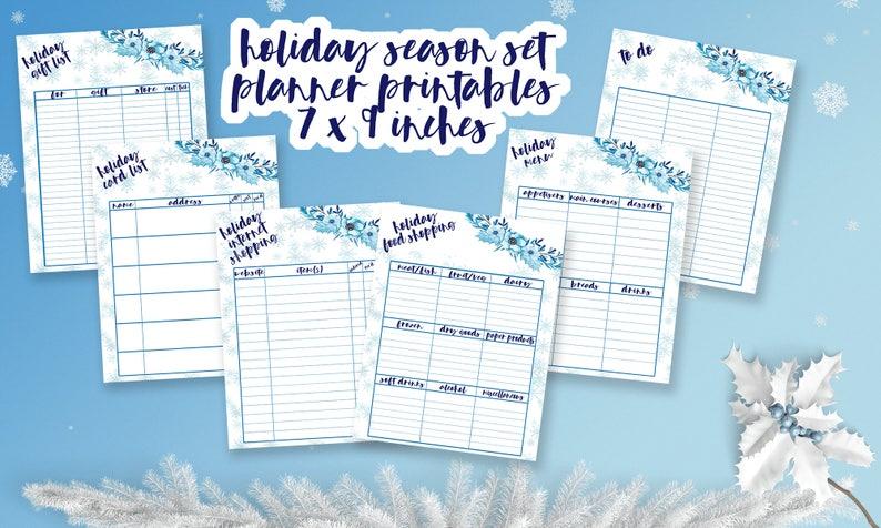 Christmas Lists.Christmas Planner Lists Holiday Lists Planner Set Erin Condren Printable Inserts Printable Christmas Lists Mambi Happy Planner Inserts