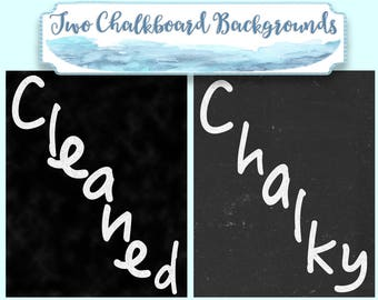 """Chalkboard backgrounds, Blackboard Backgrounds, high resolution 20"""" each, instant download, 2 digital sheets, pages paper, commercial use"""