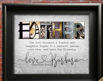 Father Gift From Daughter Personalized For DAD Christmas Gifts Dad Birthday In Law GIFT SON
