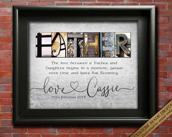 Father Gift From Daughter Personalized For Dad Christmas Gifts Birthday In Law Son