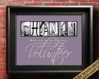 Volunteer Gifts DIGITAL Thank You Gifts For Volunteers PRINTABLE Gift Volunteer Appreciation Gift Volunteer Thank You Personalized Printable