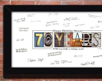 70th Birthday Gift Happy Dcor Ideas Sign For Men Dads Party