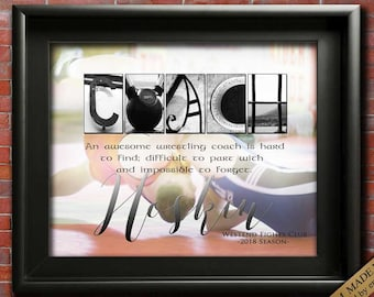 Wrestling Coach Gift,  Wrestling Mom, Wrestling Gift, Wresting Team Gift for Coach PRINTABLE, Choose Your Quote, Personalized Coach Gift