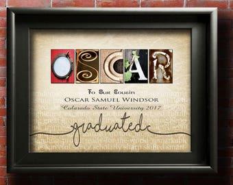 Custom Graduation Gift Idea For Graduation Gifts For Him School Graduation College Graduation Gifts For Her Grandson Graduation Any Name