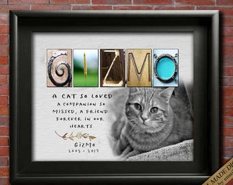 Gift for Cat Loss gift ideas for Cat Loss Sympathy, Loss of a Cat gift for Loss of Cat gift ideas, Cat sympathy Card Hardest Goodbye