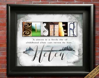 sister gift for christmas gift for sister in law gift sister for sister from brother to sister christmas gift for my sister wall art digital