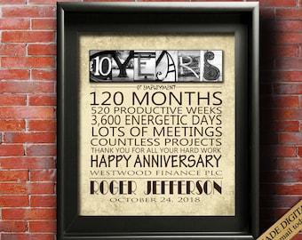 work anniversary etsy