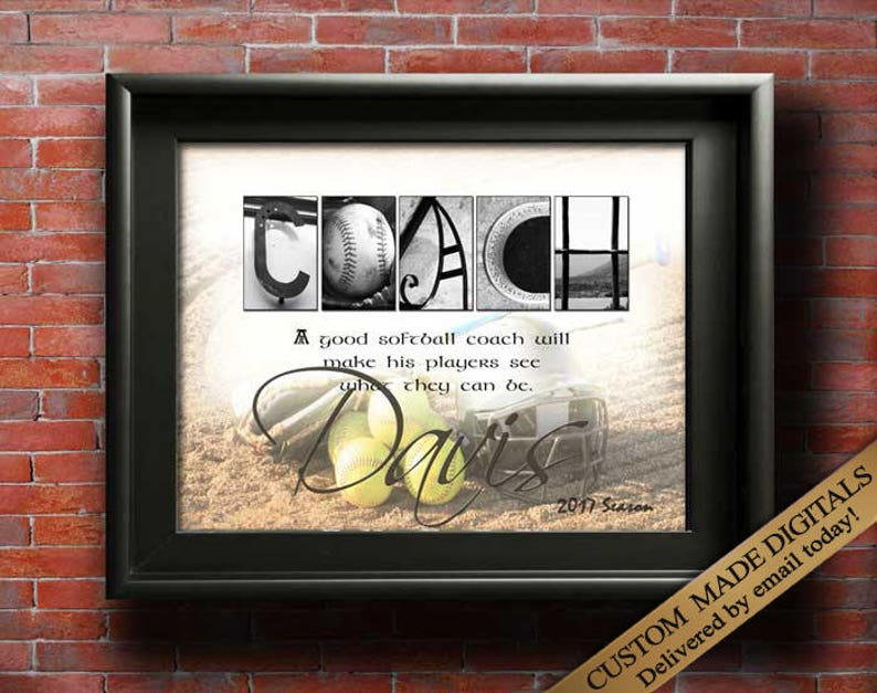 image 0 & Softball Coach Gift ideas Coaches Gifts Softball Gift Thank | Etsy