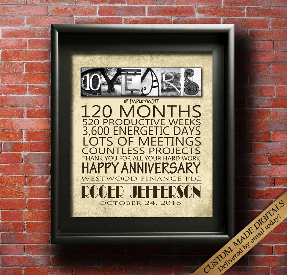 Arbeit Jubiläum 10 Jahre 15 Jahre 20 Jahre 25 Jahr 30 Jahre 35 | Etsy