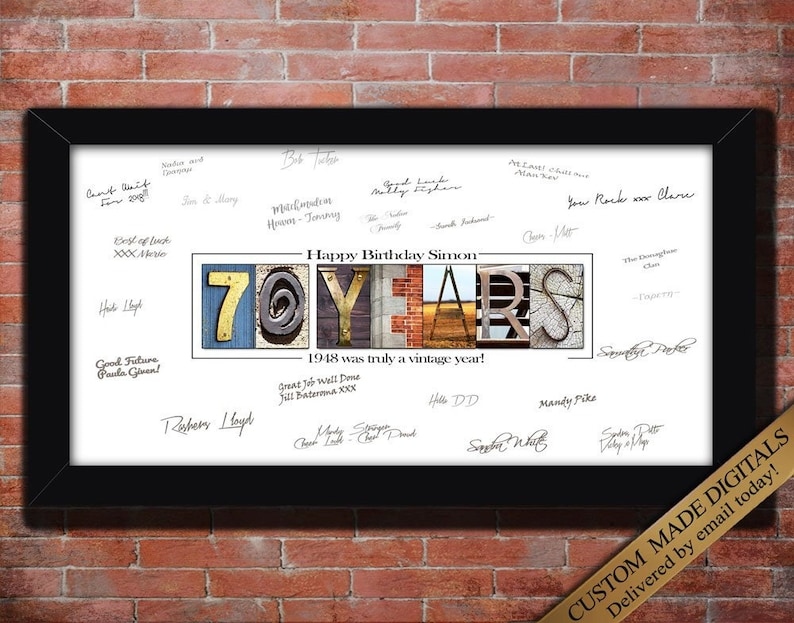 70th Birthday Gift For Men Decoration Moms