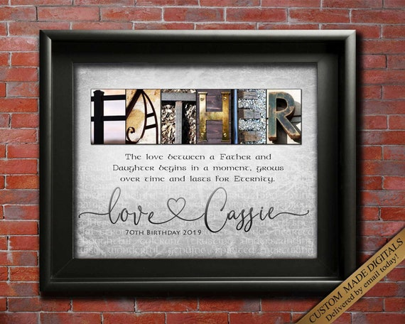Father Gift From Daughter Personalized For Dad Christmas