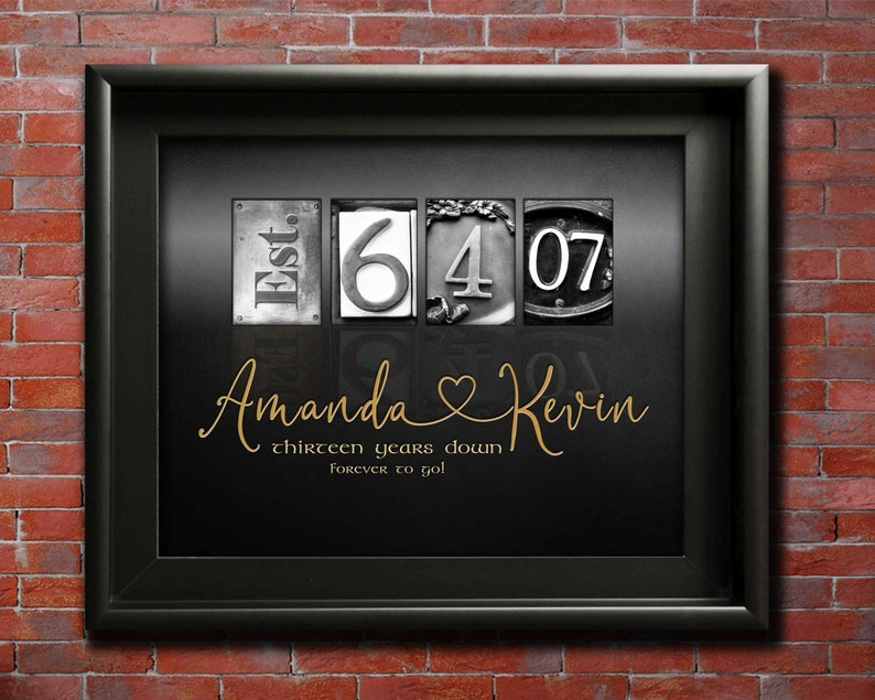 13th Anniversary Gift Ideas 13 years Wedding Anniversary ...