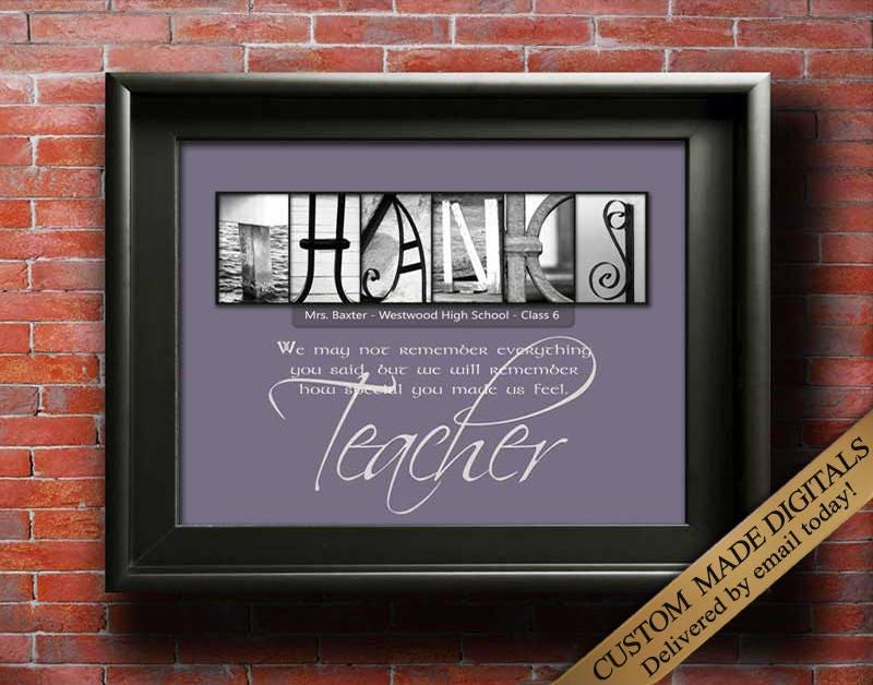 Teacher Gifts Thank You Teacher Gift Teacher Appreciation Gift | Etsy