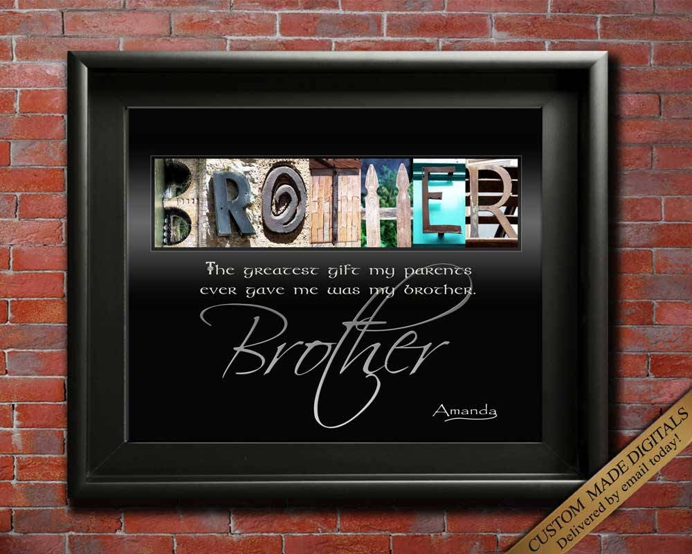 Brother Gift For Wedding Brothers Birthday