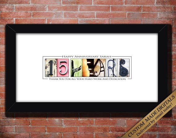 Worker Thank You Gifts 15 Year Work Anniversary Gift Employee Gift Ten Fifteen Twenty Thirty Year Employee Anniversary