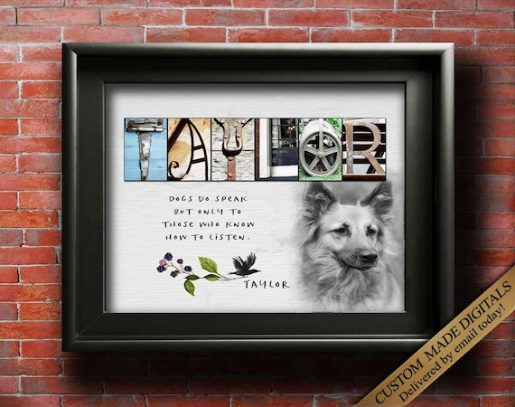 custom gift for dog lovers gifts for women dog customized dog etsy