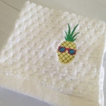Personalized Towel/Personalized for Girl/Gift for friend/handmade/Gift for her/Bath Decor Set/Washcloth/Easter Gifts/Cross Stitch World